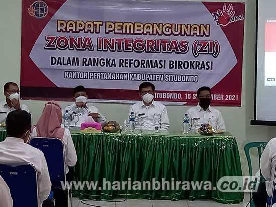 Tingkatkan Layanan Masyarakat, BPN Situbondo Canangkan Program ZI-WBK-WBBM