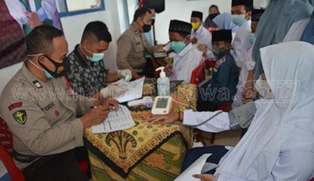 Santri Ponpes Nurul Hikam Kapongan Dukung Vaksinasi Merdeka