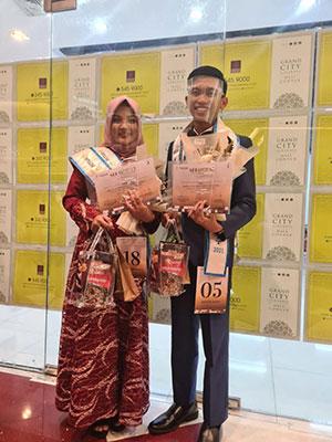 Pasangan Mahasiswa Unej Raih Mister Favorit dan Miss Berbakat Ambassador Jatim 2021