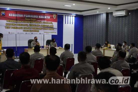 Anggota Pemegang Senpi Polres Bojonegoro Jalani Test Psikologi