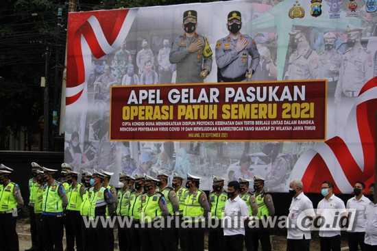 Polresta Malang Gelar Operasi Patuh Semeru, Penegakan Prokes