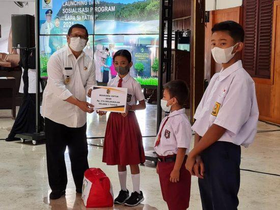Bupati Tulungagung Maryoto Birowo Launching Sapa Si Yatim Akibat Covid-19