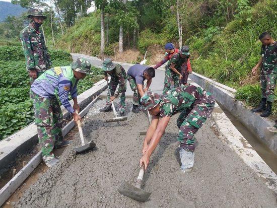 TMMD Ke-112, Kodim 0815/Mojokerto: Pembangunan JUT Berdayakan Petani