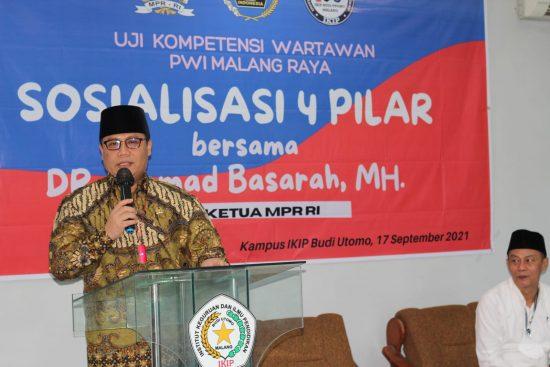 Wakil Ketua MPR RI Ingatkan PWI Malang Raya Pro-Aktif Jaga NKRI