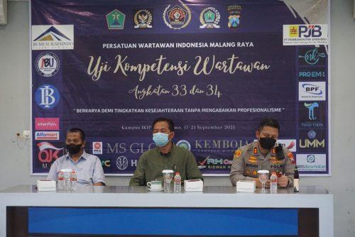 Kapolresta Malang Buka Uji Kompetensi Wartawan
