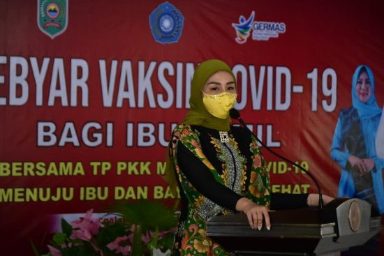TP PKK Kabupaten Trenggalek Gelar Gebyar Vaksinasi Massal Ibu Hamil dan Menyusui