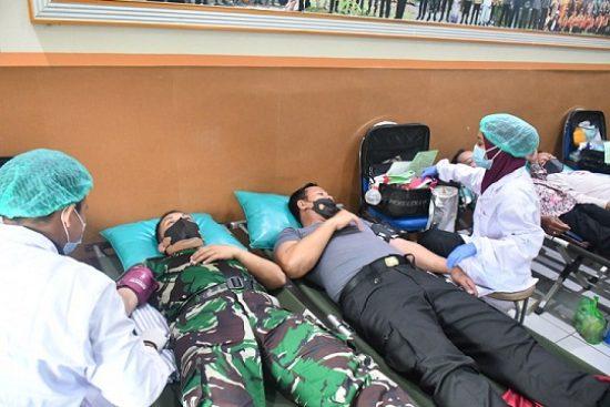 Peringati HUT TNI Ke-76. Kodim 0815/Mojokerto Gelar Donor Darah