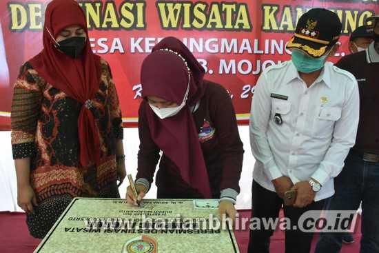 Bupati Mojokerto Respon Positif Wisata Kampung Anggur Desa Kedungmaling-Sooko
