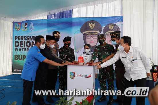 Deionisasi Water Treatment di Satradar 222 Kabuh Dilaunching Bupati Jombang