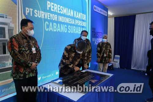 Dihadiri Gubernur Jatim, PT Surveyor Indonesia Resmikan Kantor Cabang Surabaya