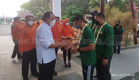 BPBD Apresiasi Prestasi Atlet Angkat Besi Jatim pada PON XX Papua