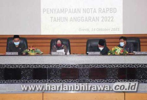 Rapat Paripurna APBD 2022, Bupati Targetkan Rp 3,3 T
