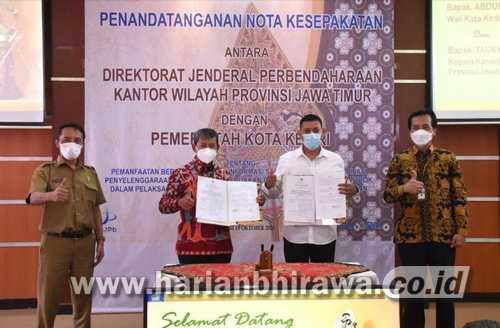 Wali Kota Kediri Tandatangani Nota Kesepakatan dengan Dirjen Perbendaharaan Kanwil Jatim