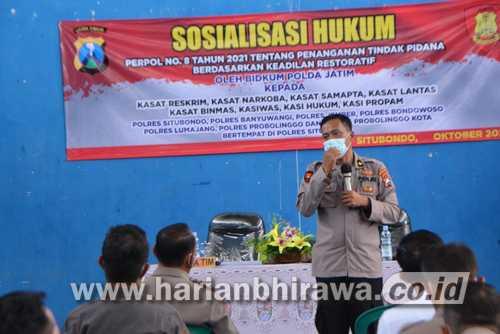 Polda Jatim Gelar Sosialisasi Penanganan Tindak Pidana di Situbondo