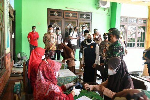 Sinergi TNI-Polri-Pemkab Mojokerto Kejar Herd Immunity