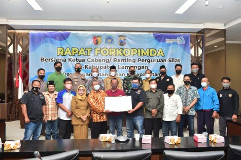 Jaga Kabupaten Lamongan Kondusif, Pemkab, TNI, Polri dan Perguruan Silat Teken MoU