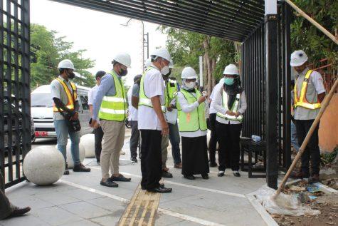 Bupati Pantau Proyek Rehabilitasi Jalan KH Wahid Hasyim dan Alun-alun Jombang