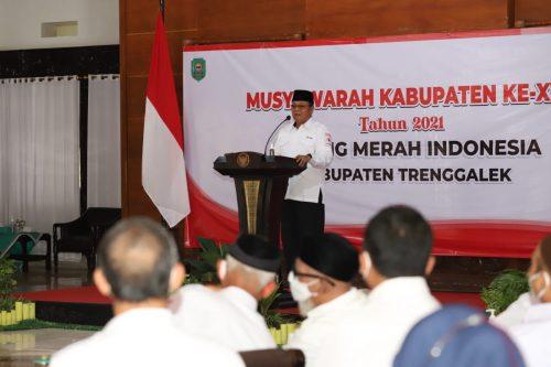 Muskab Ke-17 PMI Trenggalek, Dr Mulyadi: Bupatinya yang Luar Biasa