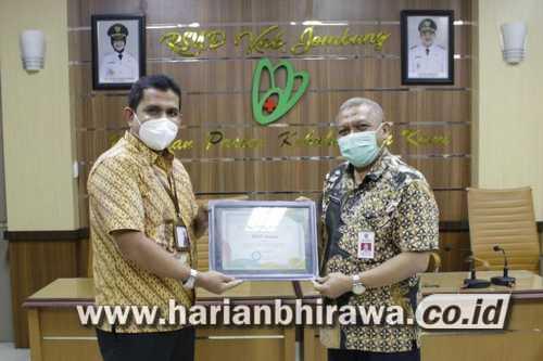RSUD Jombang Raih BPJS Kesehatan Awards 2021 Tingkat Nasional