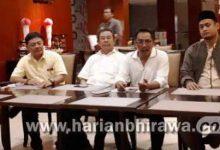 03–Sejumlah pimpinan partai politik di Surabaya menggelar pertemuan sekaligus presscon di Hotel Santika (dre)