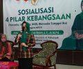 Ning Ema Sosialisasikan Empat Pilar Kebangsaan pada Santri Tambak Beras