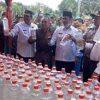 Ribuan Botol Miras Dimusnahkan di Kab.Gresik