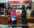 Satgas TMMD Salurkan 200 Paket Sembako ke Warga Tidak Mampu