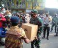 Kasrem 082/CPYJ dan Dandim 0815/Mojokerto Kunjungi Pasar Tangguh